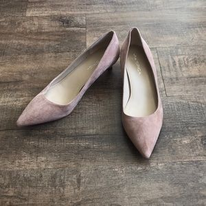 Via Spiga Pointed-Toe Pump Dusty Rose Suede